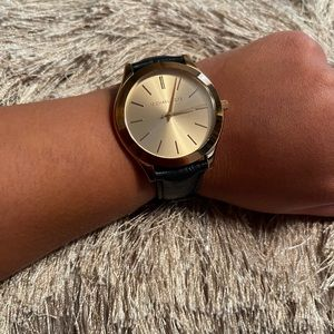 Michael kors rose gold and navy watch